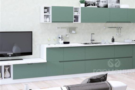 Кухня «Интегра» зеленая пастель